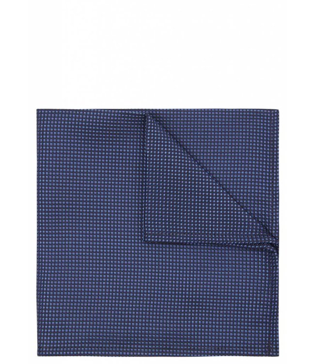 Iridescent Grid Weave Pocket Square in Blue