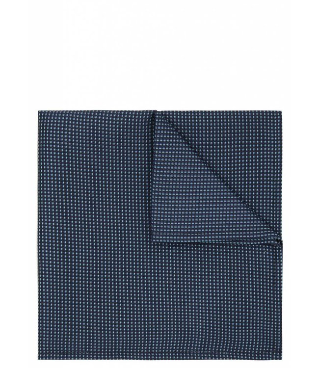 Iridescent Grid Weave Pocket Square in Turquoise