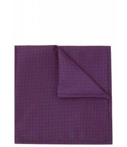 Silk Pocket Square - Iridescent Pink Weave