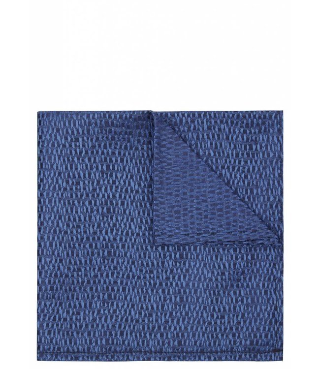 Iridescent Abstract Weave Pocket Square in Blue