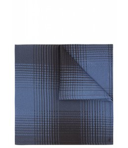 Silk Pocket Square -Blue Check
