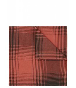 Silk Pocket Square - Orange Check