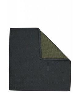 Silk Pocket Square - Green Piquet