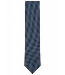 Silk Tie - Turquoise Grid Weave