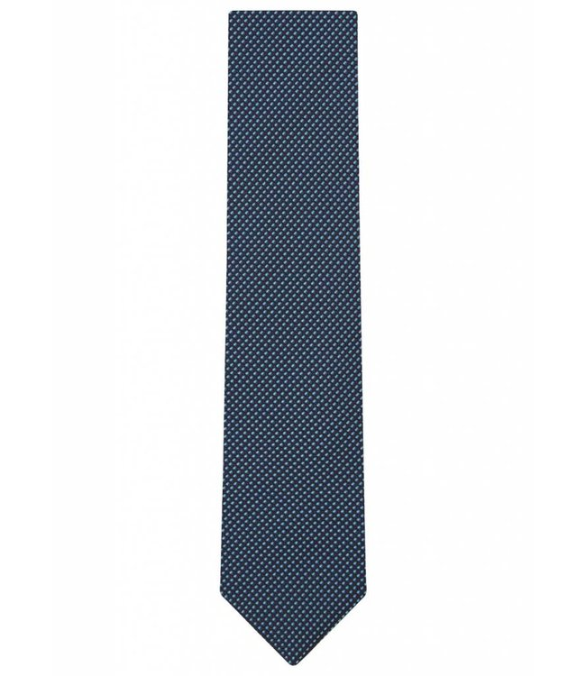 Iridescent Grid Weave Silk Tie in Turquoise