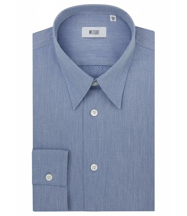 The Ace Shirt in Blue Chambray Dobby