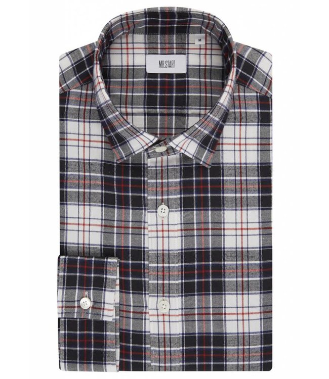 The Boundary Shirt in Black & White Tartan