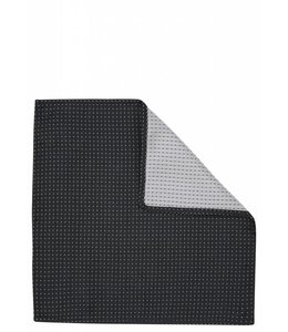 Silk Pocket Square - Black Pin Dot