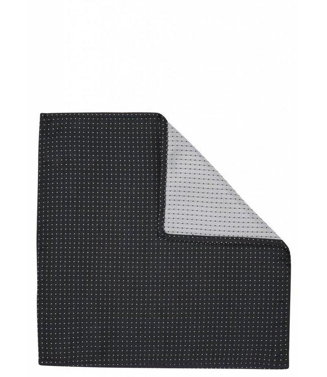 Pin Dot Silk Pocket Square in Black