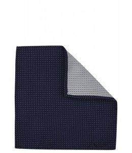 Silk Pocket Square - Navy Pin Dot