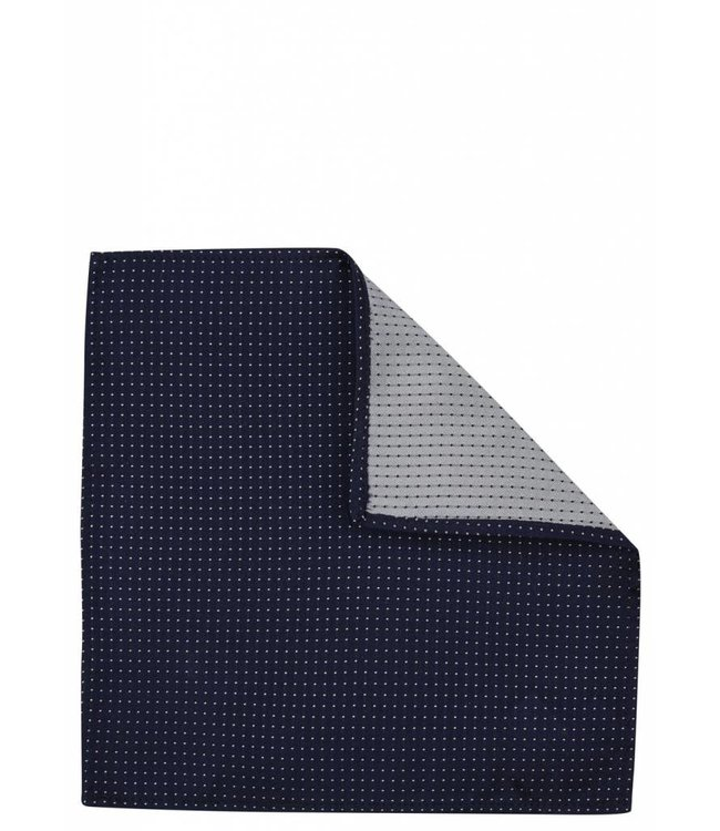 Pin Dot Silk Pocket Square in Navy