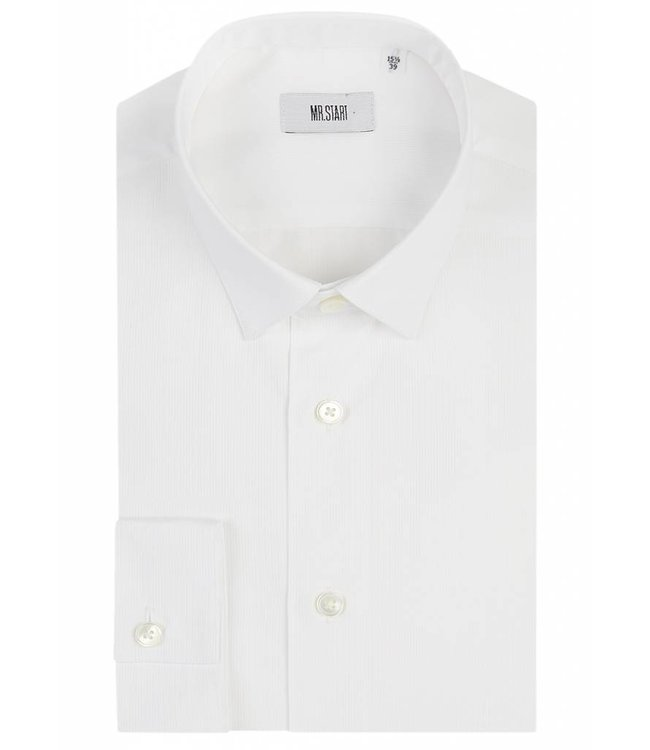 The Bower Super Fine Double Fold Poplin Shirt in Classic White