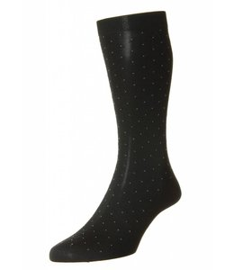 Pantherella Pin Dot Socks - Black/Grey