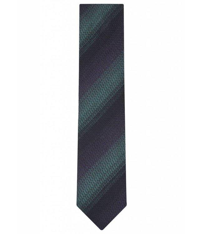 Diagonal Stripe Woven Silk Tie