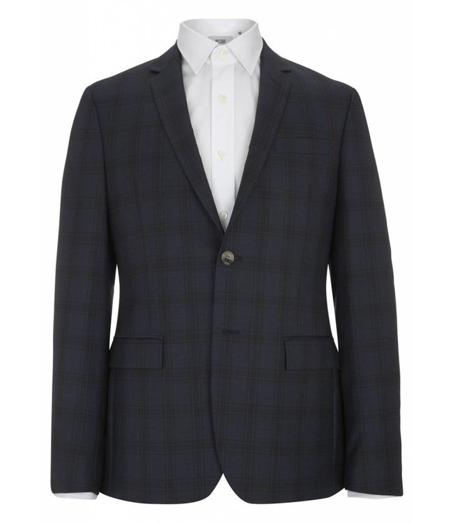 The Rivington Super Fine Wool Jacket in Navy Blue Check