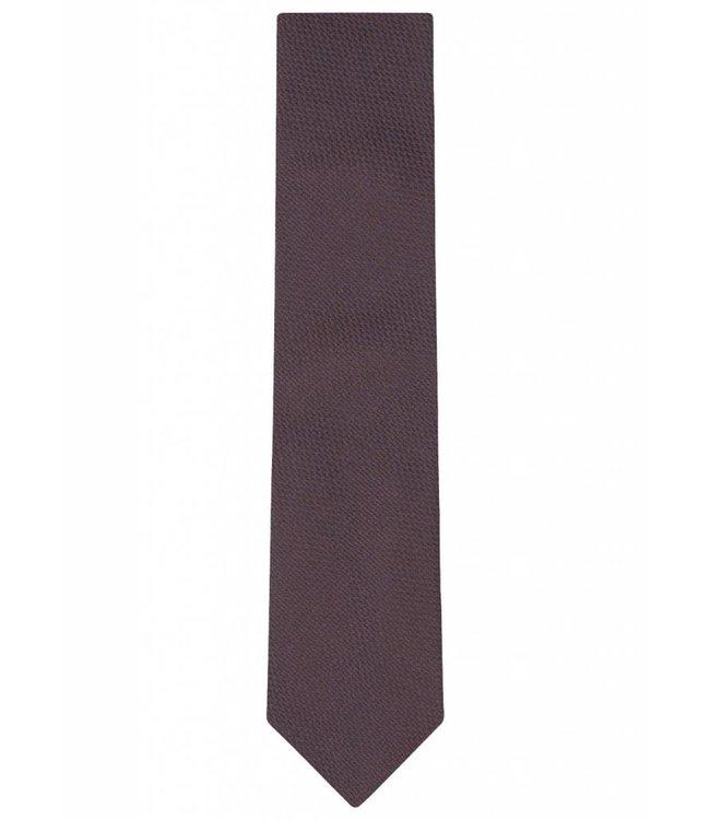 Textured Silk Tie in Maroon Weave