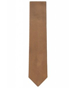 Textured Silk Tie in Gold Weave