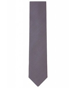 Grid Weave Silk Tie in Iridescent Peach