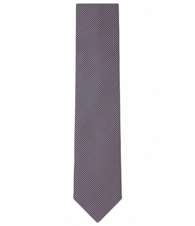 Grid Weave Silk Tie in Iridescent Peach