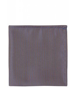 Grid Weave Silk Pocket Square in Iridescent Peach