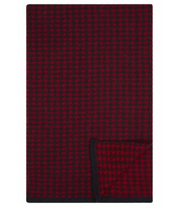 Super Soft Merino Scarf in Navy & Red Dogtooth
