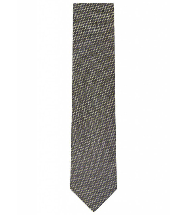 Grid Weave Silk Tie in Iridescent Gold
