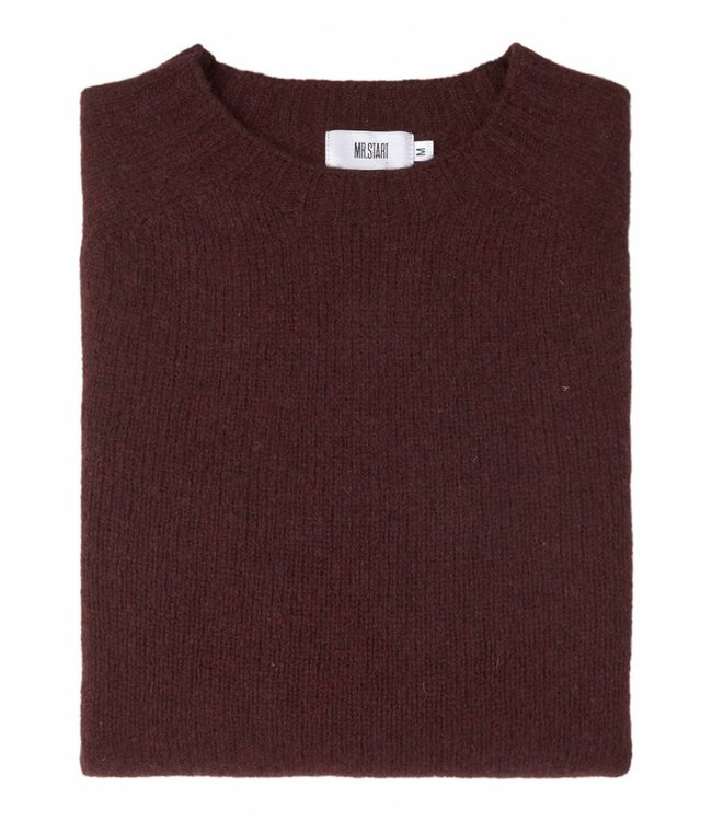 The Lomond Pure Shetland Wool Crew Neck Sweater in Wizard