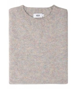 The Lomond Pure Shetland Wool Crew Neck Sweater in Pearl