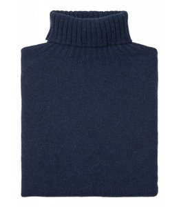 The Morlich Geelong Lambswool Roll Neck in Cosmos Blue