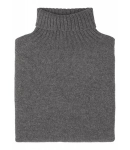 The Morlich Geelong Lambswool Roll Neck in Mid Grey