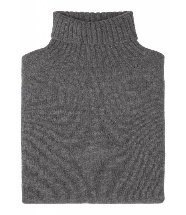 The Morlich Lambswool Roll Neck in Mid GreyThe Morlich Geelong Lambswool Roll Neck in Mid Grey