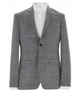 The Pitfield  Super Soft Wool Jacket in Prince of Wales Check