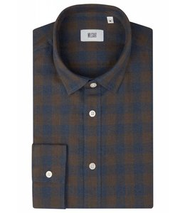 The Truman Super Soft Brushed Flannel in Blue & Brown Check