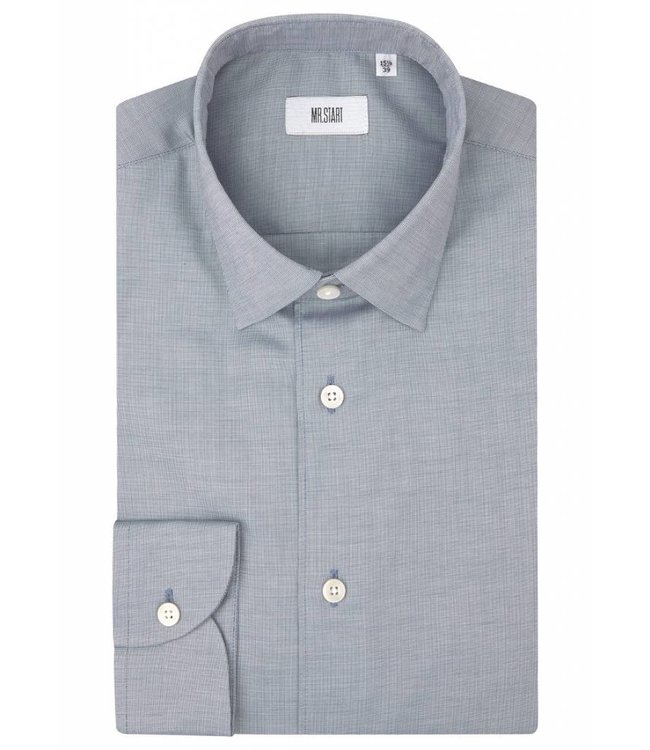 The Drake Super Fine Two Fold Cotton Shirt in Navy Micro Weave