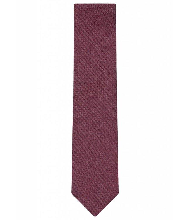Textured Silk Tie in Pink & Red Weave