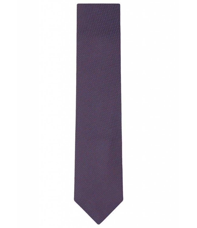 Textured Silk Tie in Navy Blue & Purple Weave