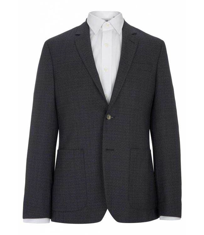The Rivington Semi Soft Fine Wool Jacket in Jacquard Blue
