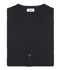 Superfine Knit Merino Wool Cardigan in Classic Black