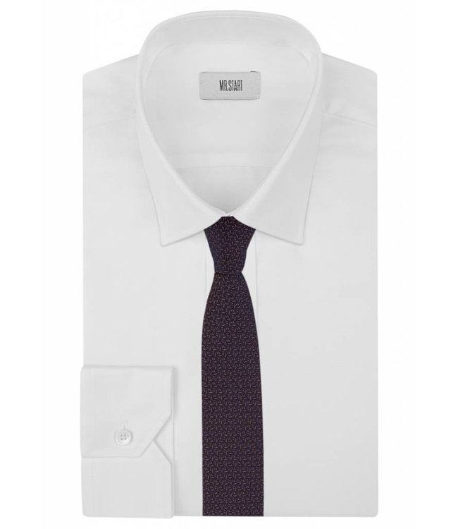 Textured Knot Weave Silk Tie in Purple