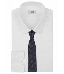 Textured Knot Weave Silk Tie in Navy