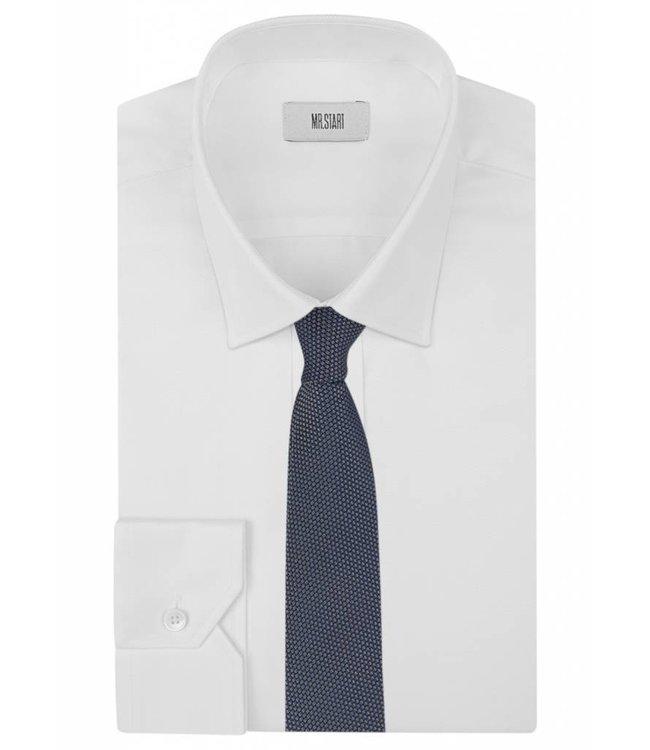 Textured Silk Tie in Metalic Grey Weave
