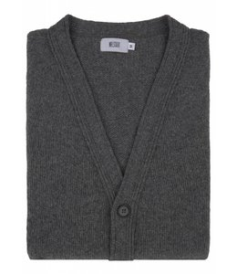 Super Soft Chunky Geelong  Lambswool Cardigan in Grey