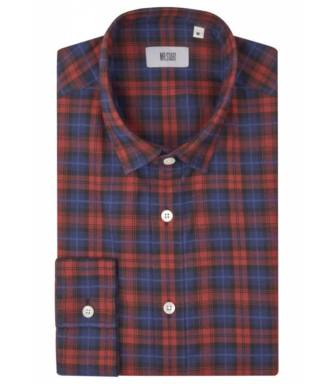 The Truman Super Soft Brushed Flannel Shirt in Red Tartan