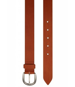 Genuine Leather Flat Edge Belt in Tan
