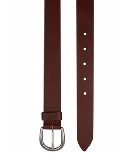 Genuine Leather Flat Edge Belt in Brown