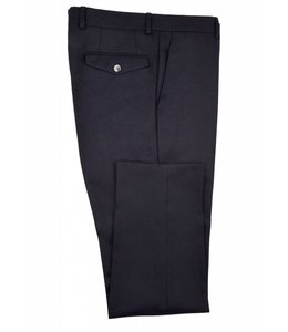 The Rivington Soft Brushed Wide Flannel Trousers in Navy