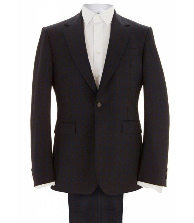 The Leonard - Navy & Brown Check Suit