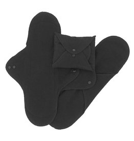 ImseVimse Washable Night Pads - Black