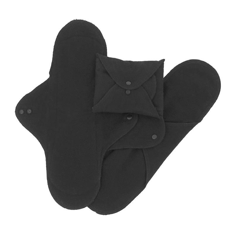 ImseVimse Pack of 3 Washable Night Pads - Black