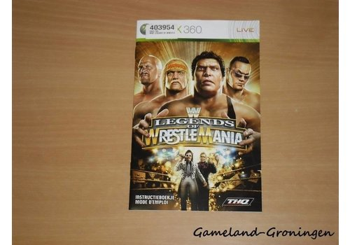 WWE Legends of Wrestlemania (Handleiding)
